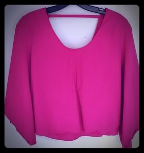Zara crop top shirt